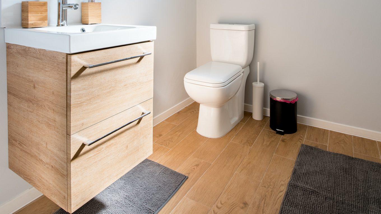 vízálló laminált padló fürdőszobában